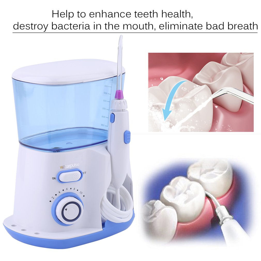 Waterpulse Health Dental Flosser Oral Irrigator Water Floss Teeth Care Tool