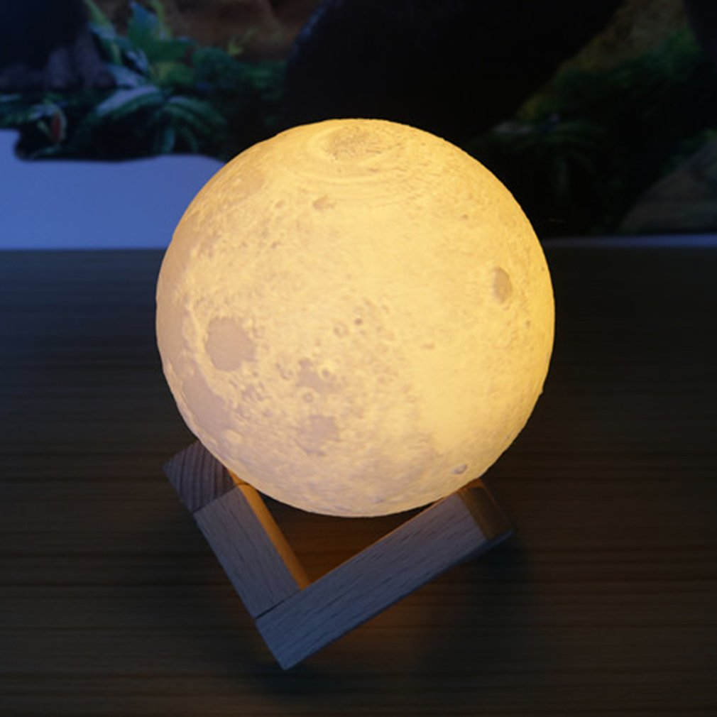 Colorful 3D Print Moon Lamp Bedroom Bedside Home Decor Gift Night Lights