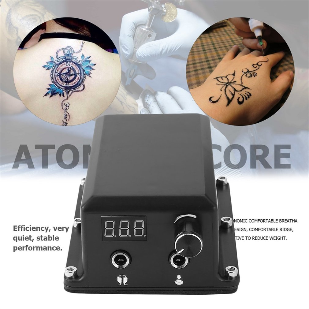 Professional Tattoo Power Supply Digital LCD Display For Permanent Machine