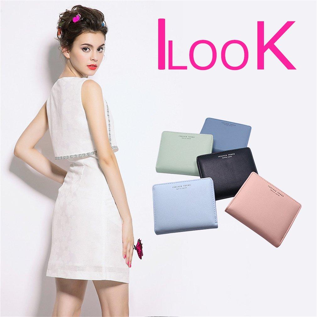 Ultra Thin Women Short Style Wallet Elegant PU Leather Multi-Cards Slot Wallet
