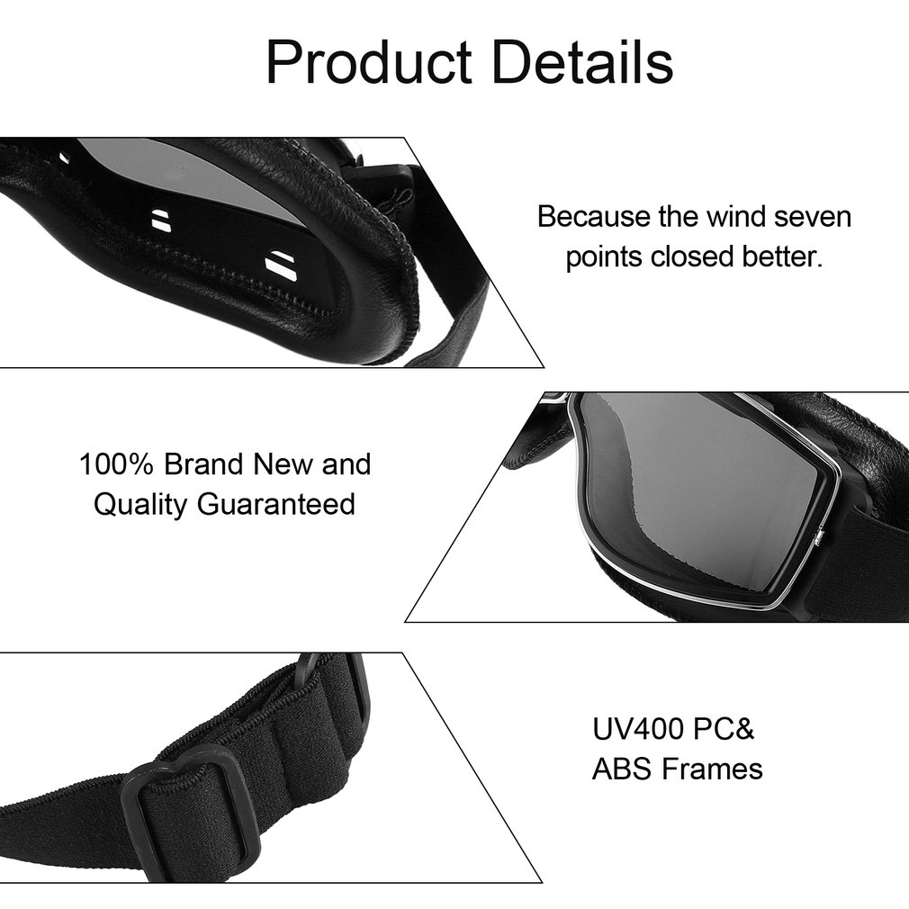 Motorcycle Goggles Bike Goggles UV Protective Dust-proof Protective Glasses
