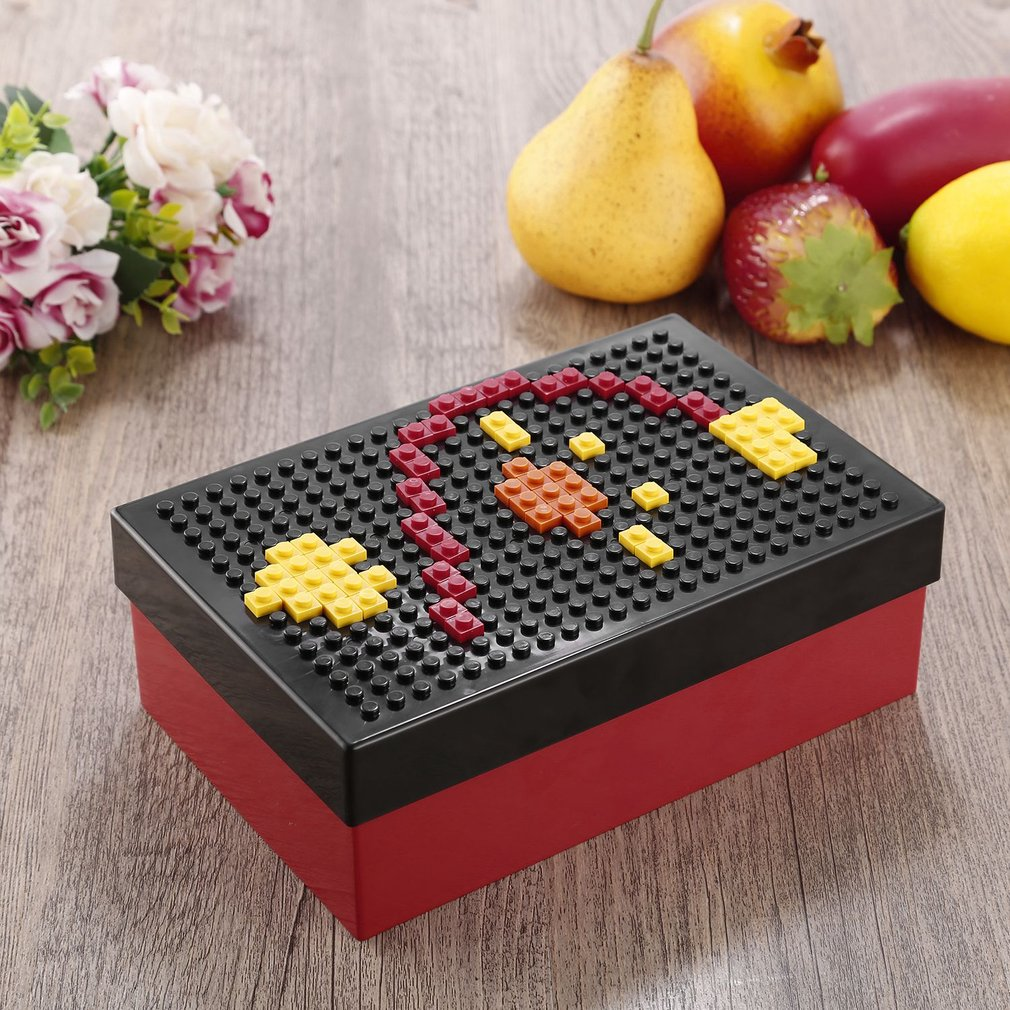 Portable Unique DIY Pixel Block Puzzle Food Storage Picnic Container Lunch Box