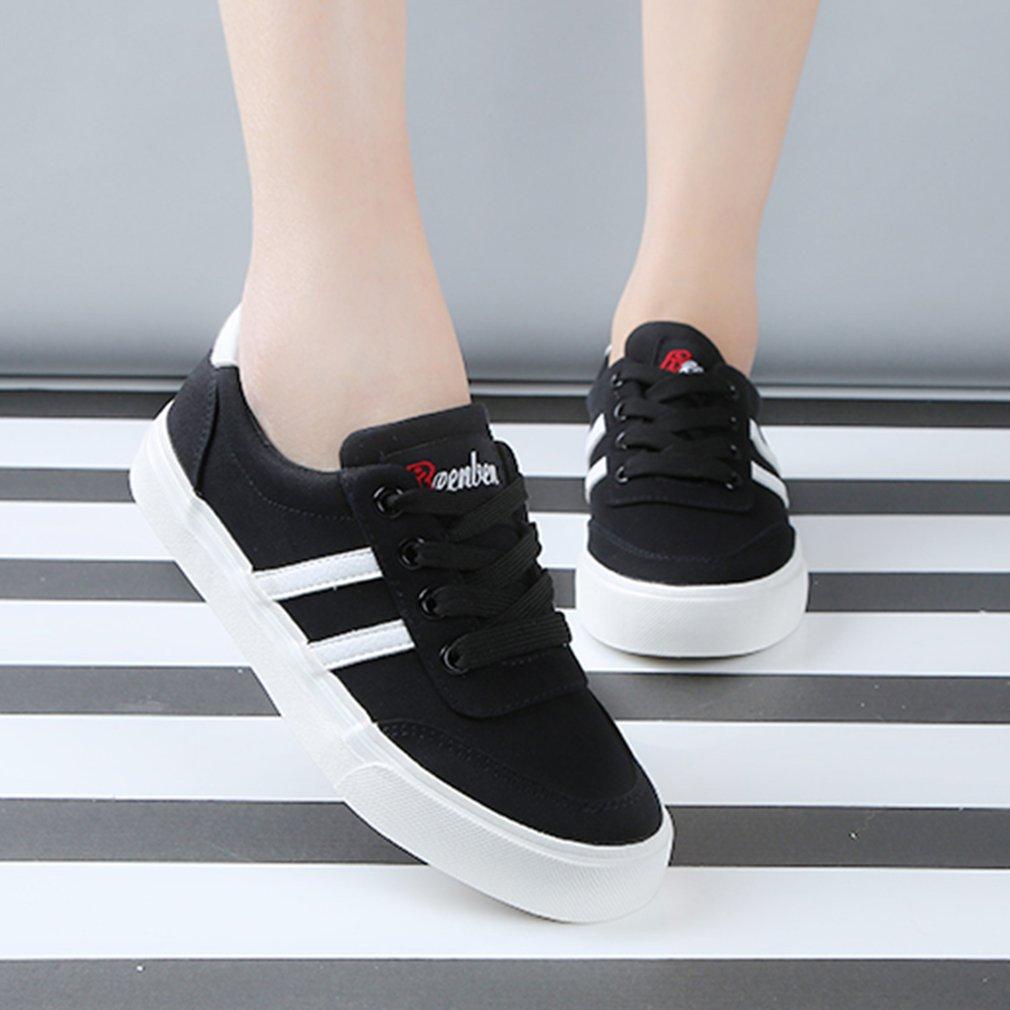 Renben 8366 Women Men Comfortable Thick Soled Flatform Low-cut Flat Shoes