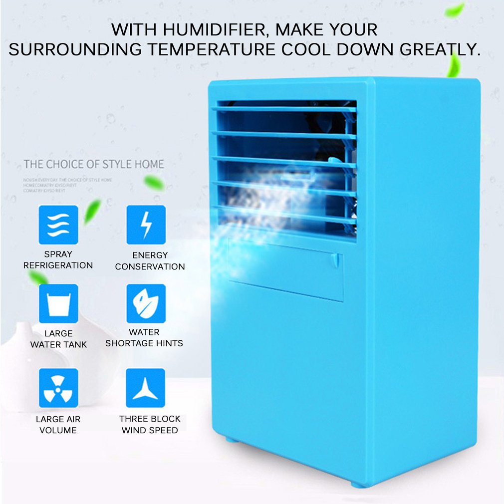 Personal Use Air Conditioner Air Cooler Home Office Desk Cooler Bladeless Fan