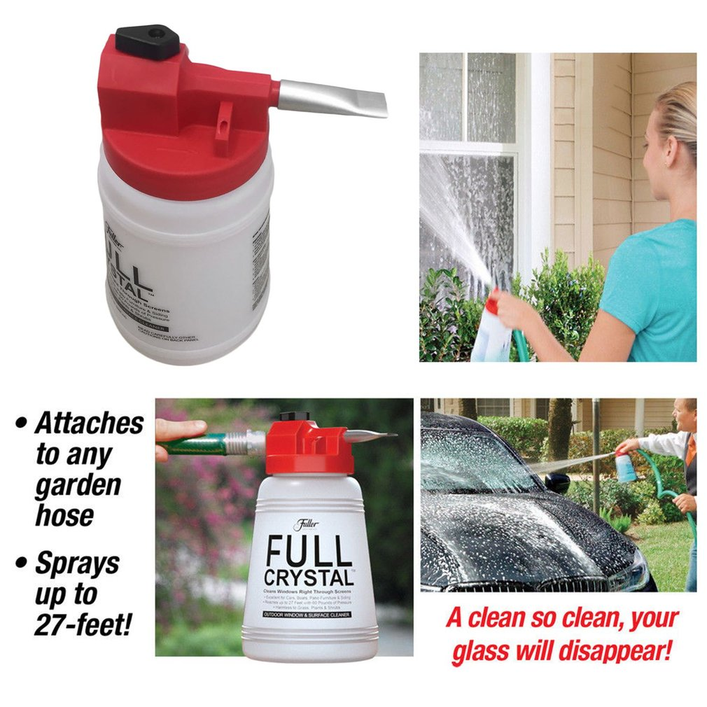 Car Window Foam Spray Bottle Outdoor Glass Cleaner Multifunctional Foamaster Portable Cleaning Kit Washing With Water Nozzle