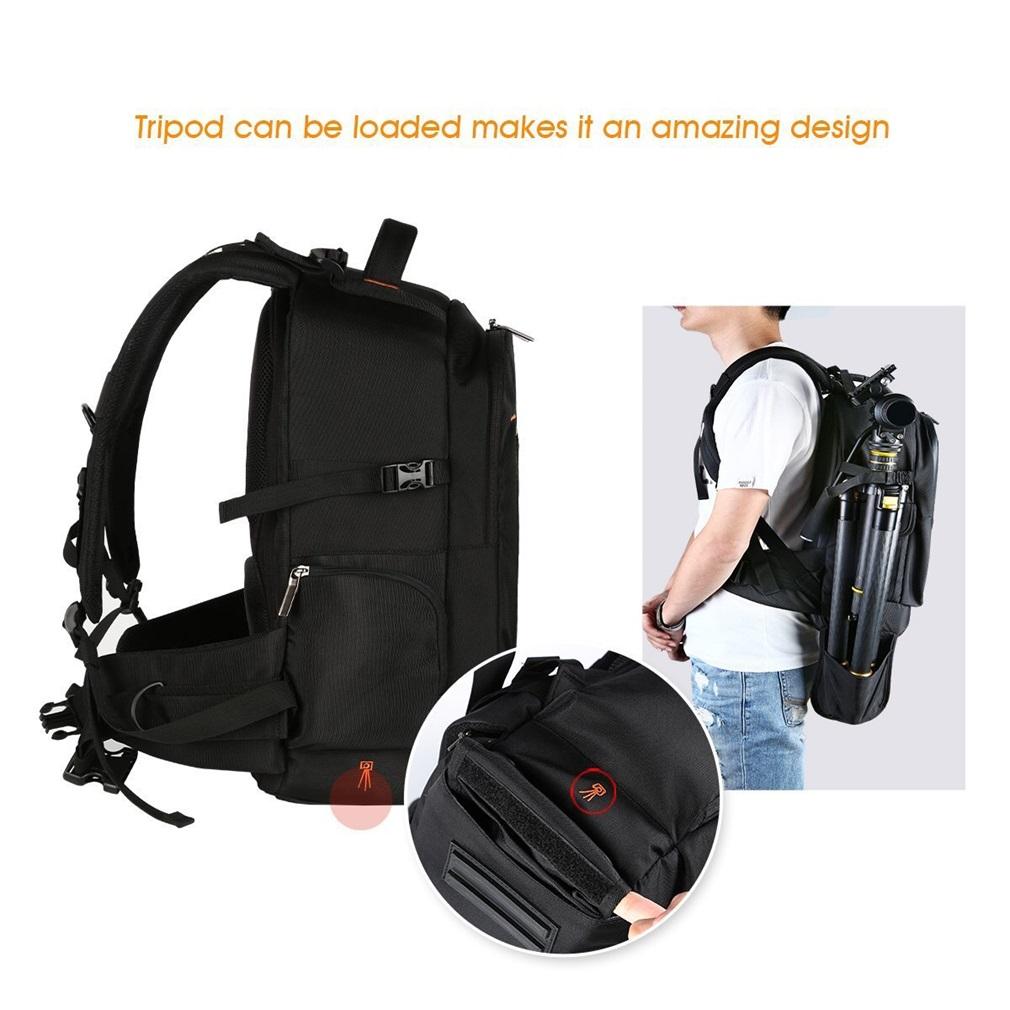 Durable Use Waterproof Cameta Laptop Storage Bag Outdoor Travel Backpack Black