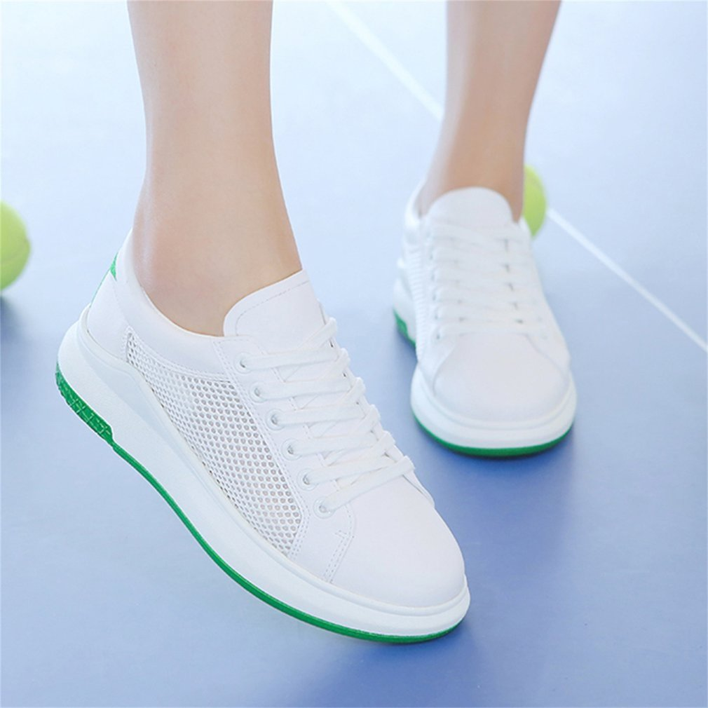 RenBen 12250 Breathable Women Shoes Mesh Thicken Sole Lace-up Casual Shoes