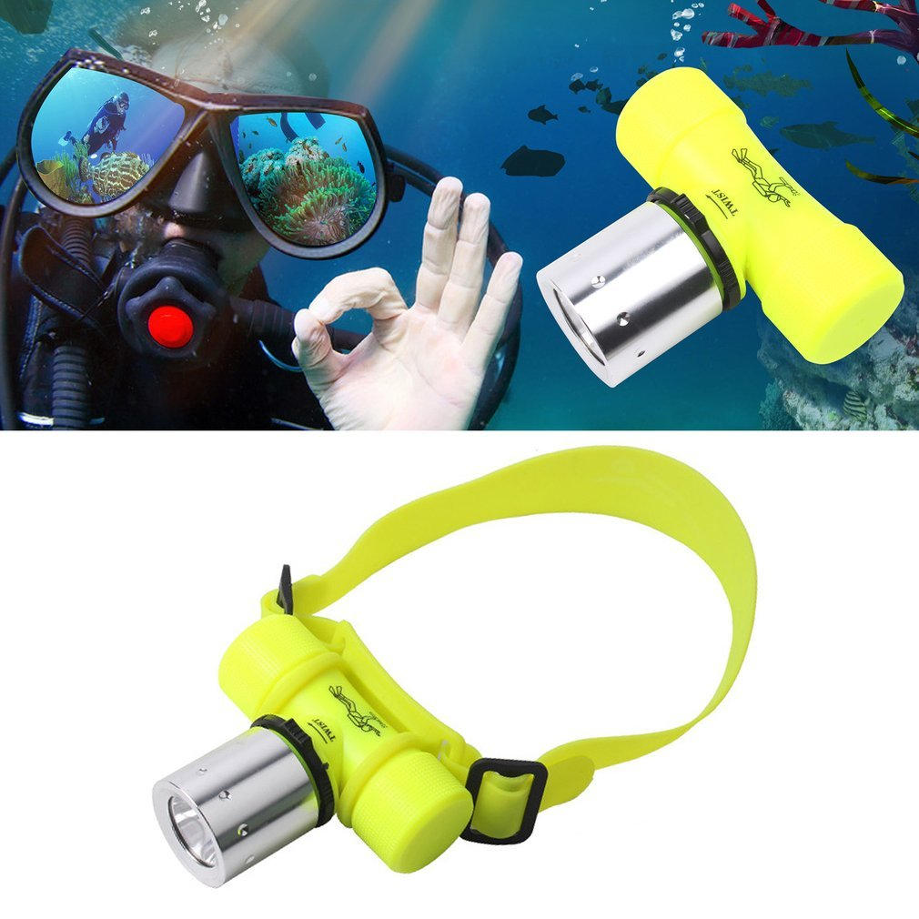 Waterproof Super Bright T6 LED Flashlight Swimming Diving Headlight Lamp