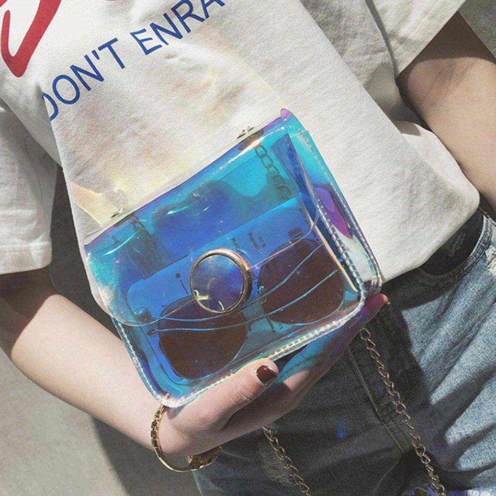 Fashion Transparent PVC Crossbody Bag Popular Shoulder Bag Chain Bag Small Flap Bag For Woman Girls All-match Style Gift