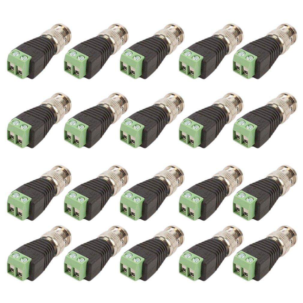 20 pcs Coax CAT5 To Camera CCTV BNC Video Balun Connectors Male New