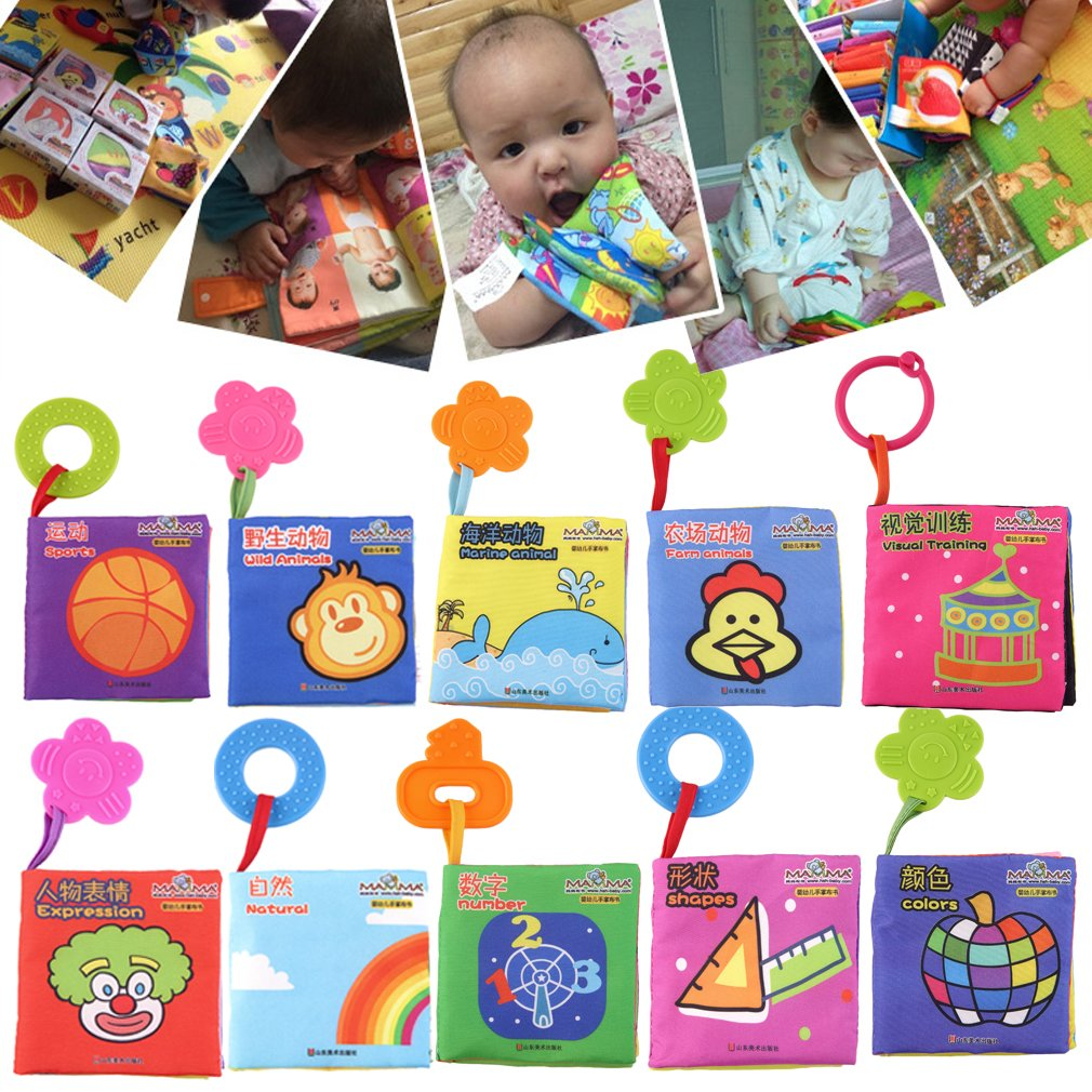 Intelligence Development Cloth Cognize Book Learn Picture Toy for Kid Baby