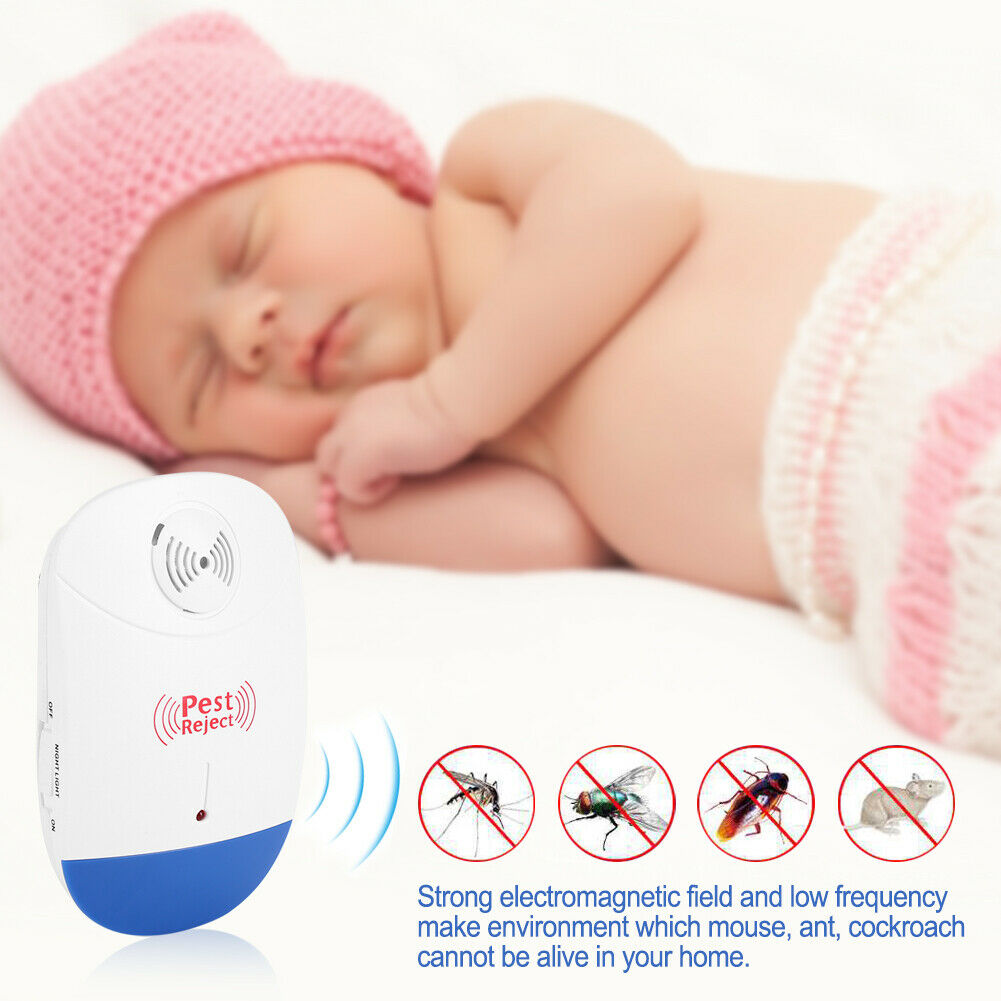 Indoor Electronic Ultrasonic Mosquito Repellent Pest Control Repeller Home Use US Plug