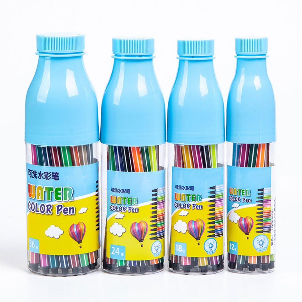 12/18/24/36 Colors Washable Painting Graffiti Watercolor Brush Pen Stationery