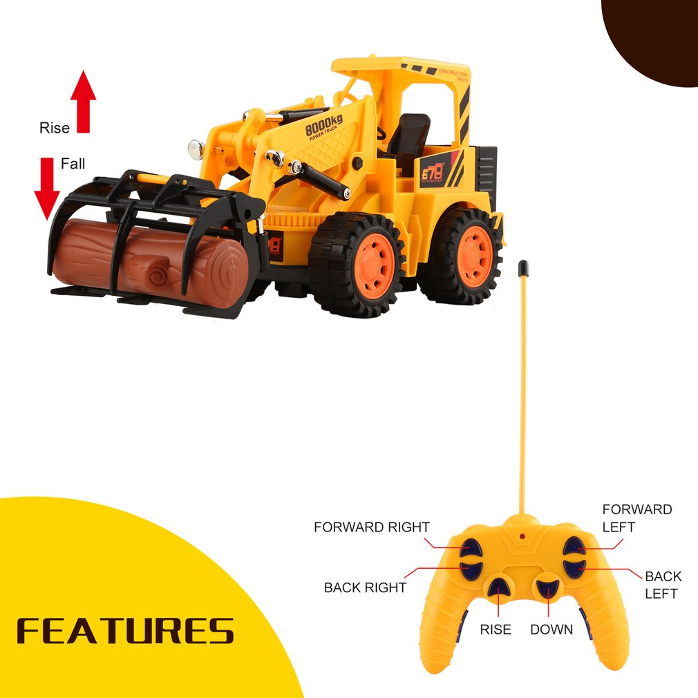 8029E 5CH Remote Control Simulation Tractors Electric Engineering Vehicles