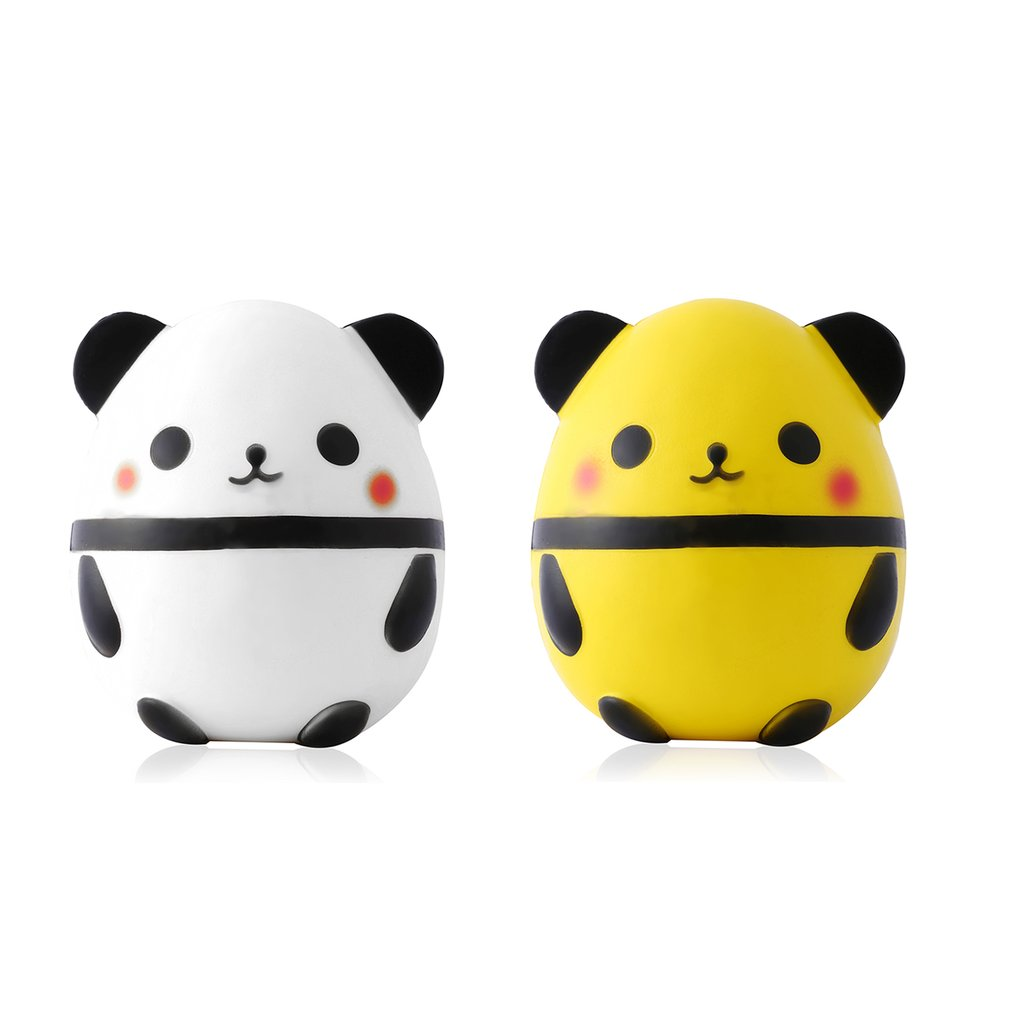 Kawaii Panda Bear Egg Shape Small Slow Rising Toy Office Stress Reliever Toys