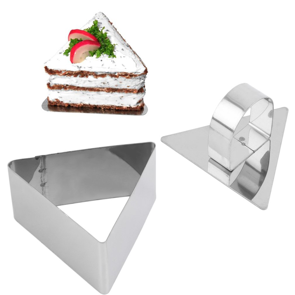 Stainless Steel Triangle Shape DIY Dessert Cake Cheese Mould Slicer Cutter
