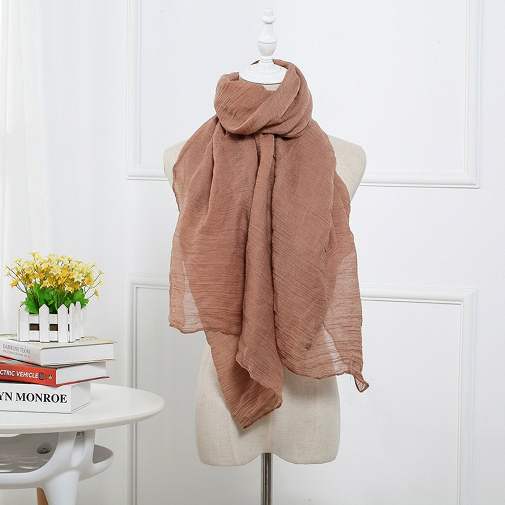 New Women Winter Autumn Winter Scarf Cotton Fiber Black/Khaki/Beige Scarf