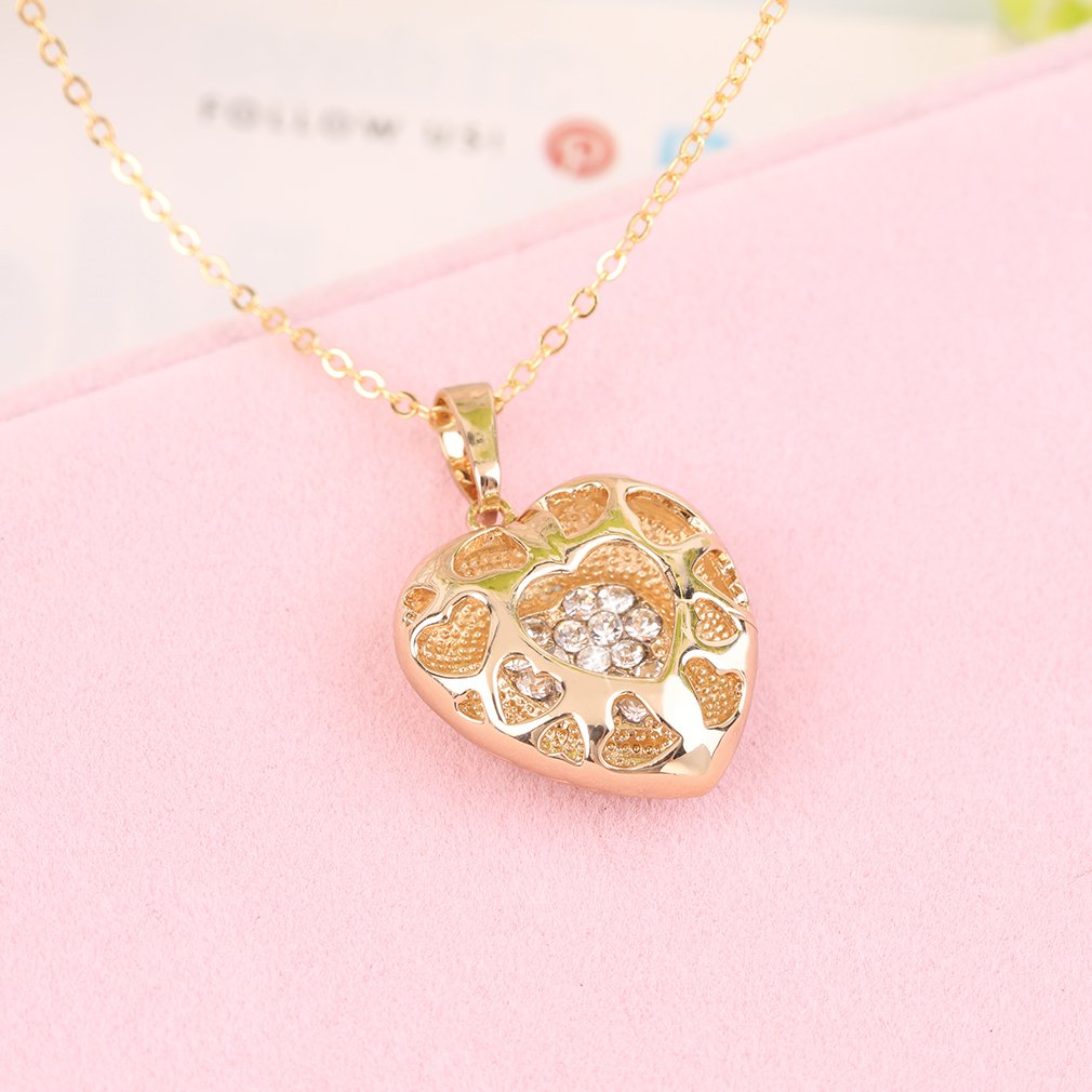 Elegant Vintage Charm Women Lady Unique Heart Shape Luxury Necklace
