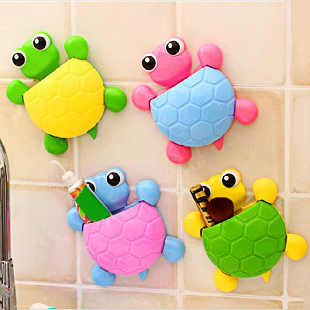 Cute Turtle Wall Sucker Toothbrush Suction Cup Toothbrush Hooks Holders