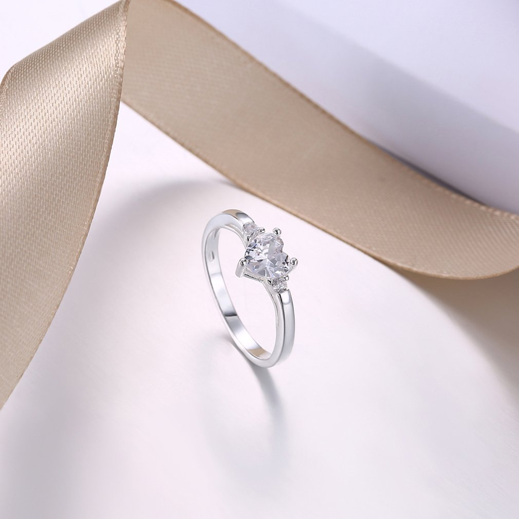 Charming Women Zircon Ring Elegant Female Ladies Stylish Wedding Fine Jewelry