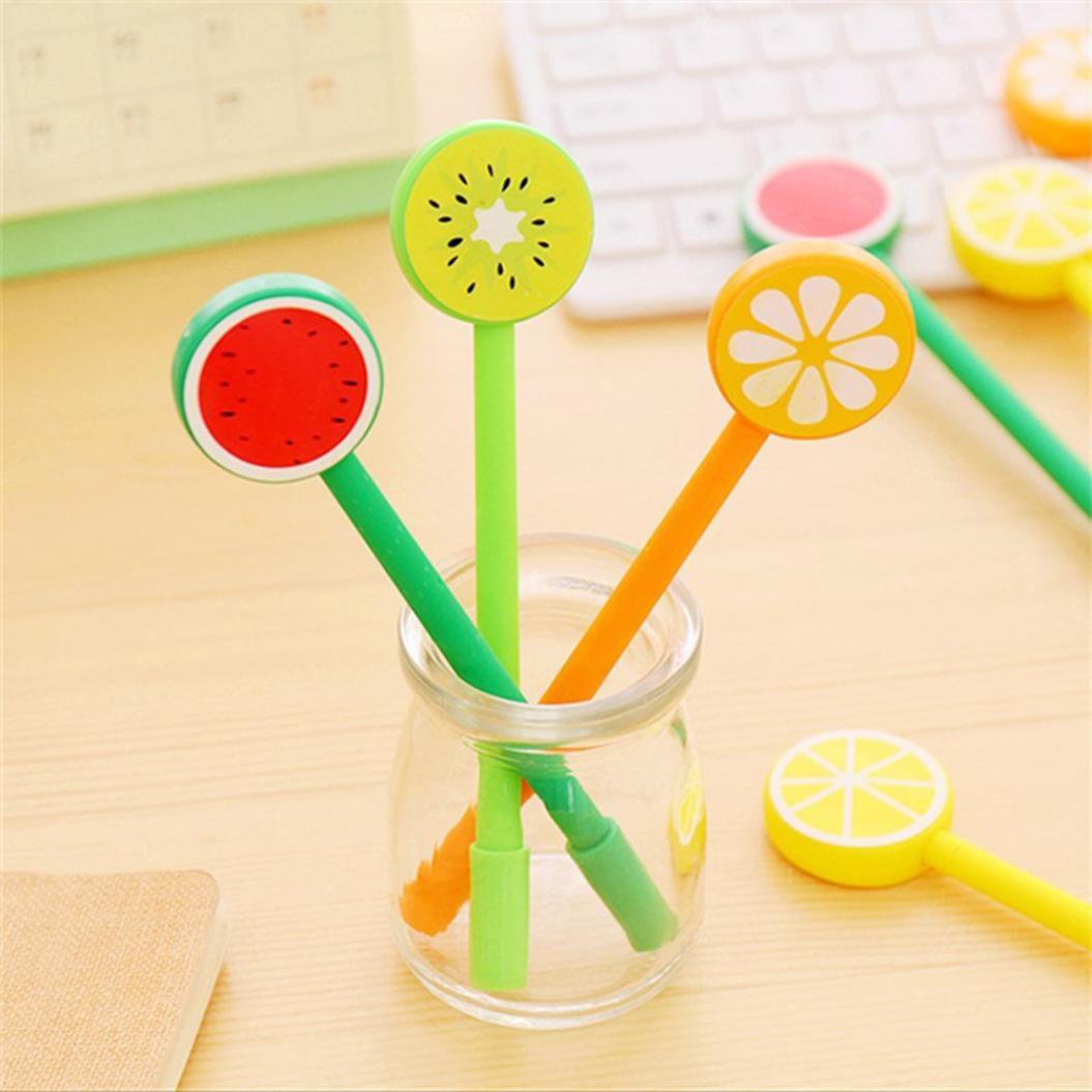 Fruit Lemon Watermelon Orange Gel Pen Stationery Student School Office Supplies