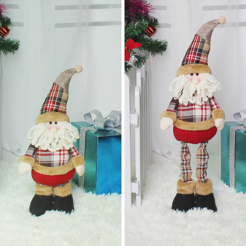 Christmas Ornament Cute Stretchable Telescopic Doll Christmas Dolls Gift