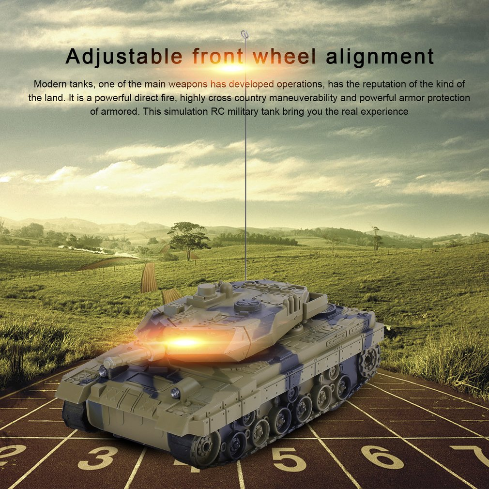 1:24 4CH Electric RC Tank Fighting Vehicles Battle Tanks Light & Music Kid Toy