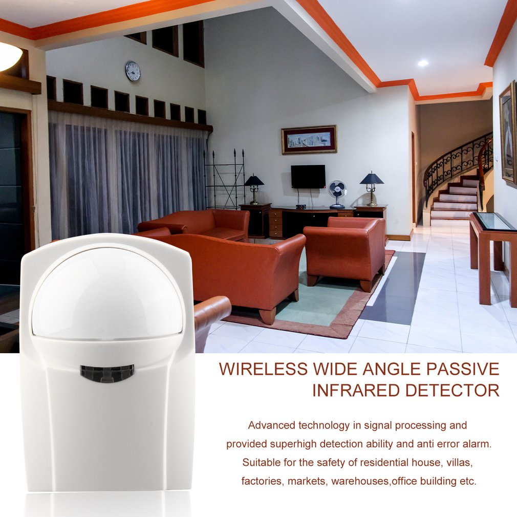 433Mhz CB61 Wireless Wide Angle Passive Infrared Detector For Safety Precaution