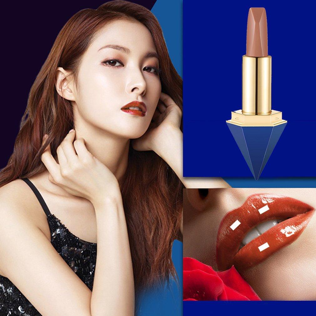 Compact Size Diamond Shape Lip Makeup Lipstick Women Moisturizing Lipstick
