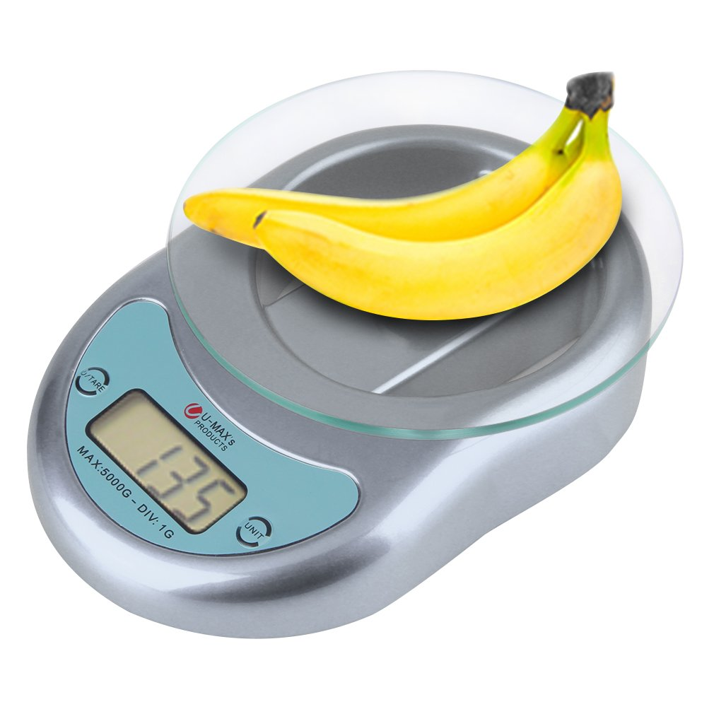 Hot Kitchen Scales Digital Electronic 5kg/1g 5000g Weighing Scales With Pan
