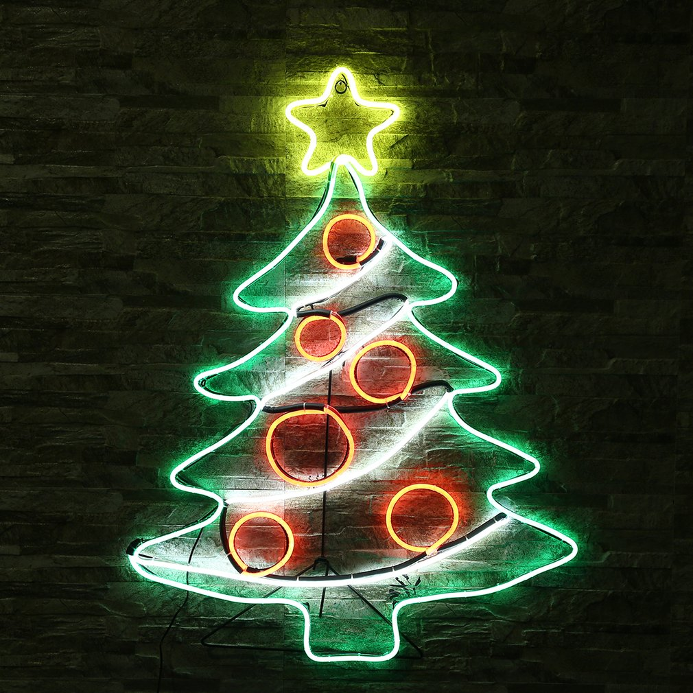 Neon Sign Light Christmas Tree Coffee Bar Room Wall Decor Ornament Crafts