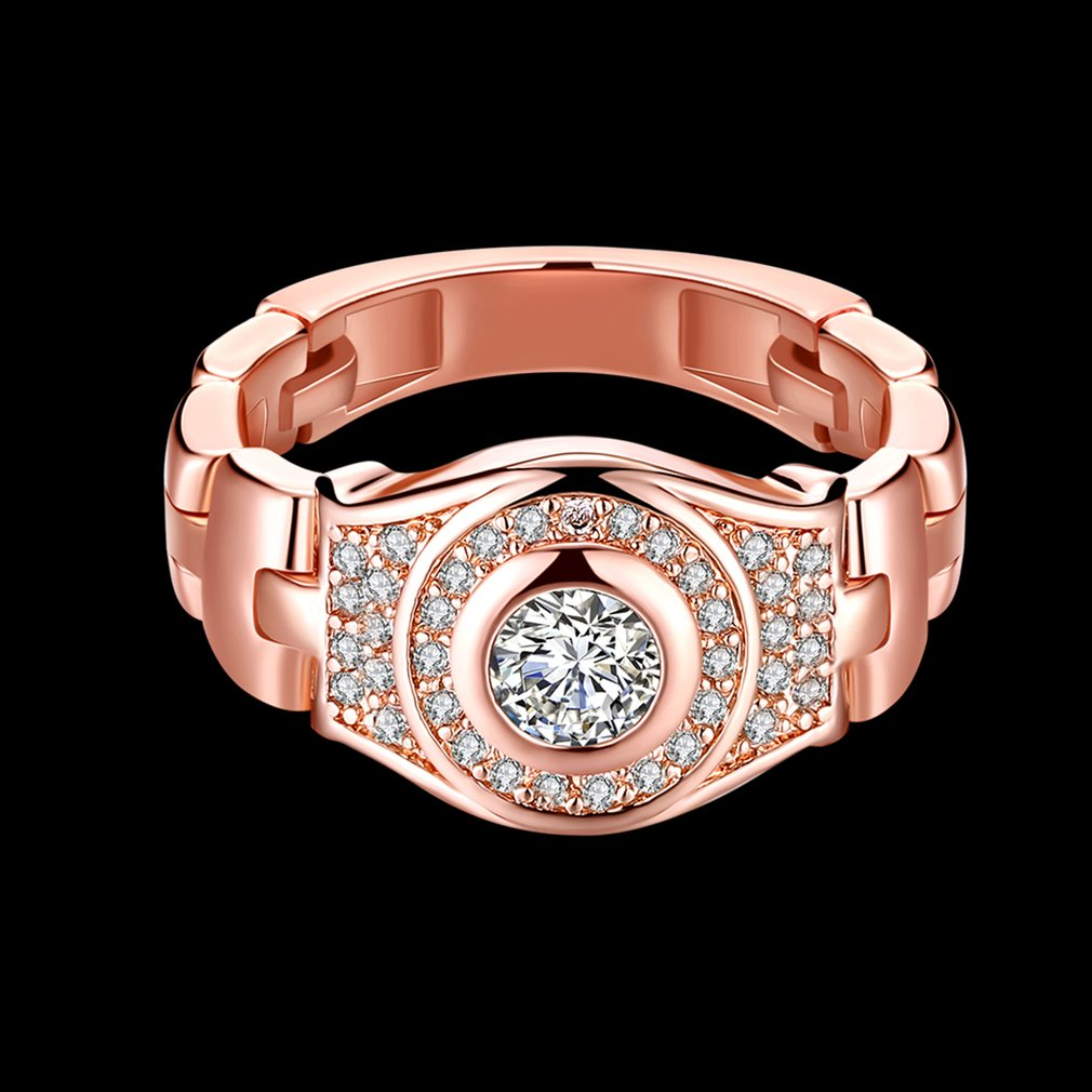 Women Zirconia Rings Wedding Ring with Prong Setting Unique Watch Bands Rings