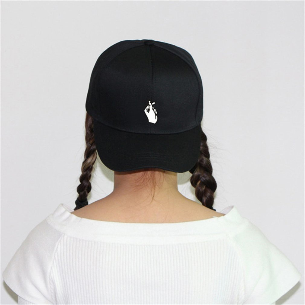 Fashionable Love Gestures Finger Embroidery Unisex Baseball Cap Snapback Caps