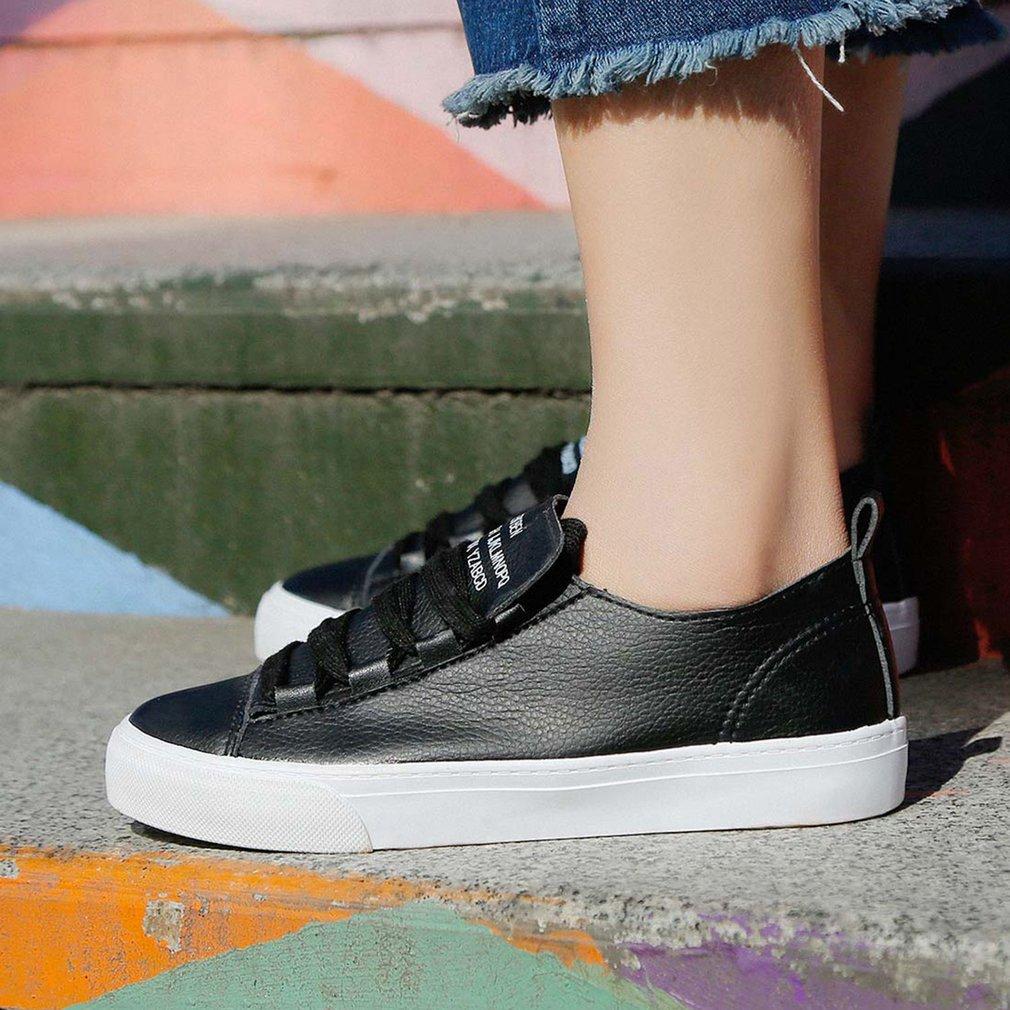 RENBEN Female Shoes 8715 Women Casual Shoes Flat Shoes Ladies Lacing Shoes