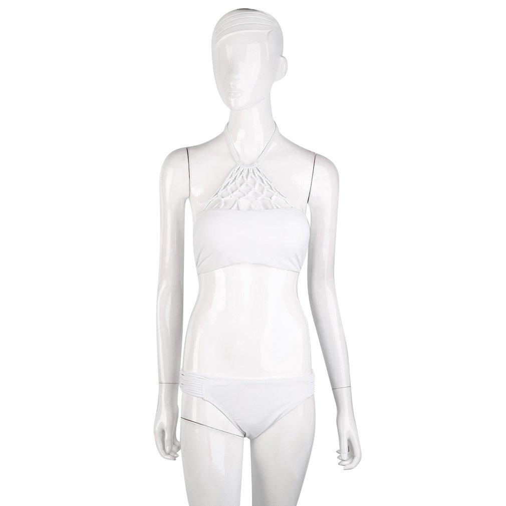 Sexy Swimwear Women's Push up Swinsuit White Hollow Beach Wear Bikini Set