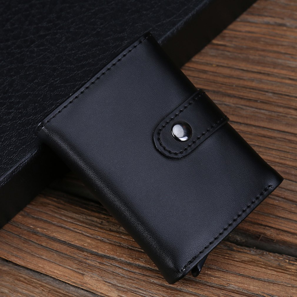 Fashionable Small Size Soft PU Leather Card Holder Wallets Business ID Cards Credit Card Holders Organizer Case