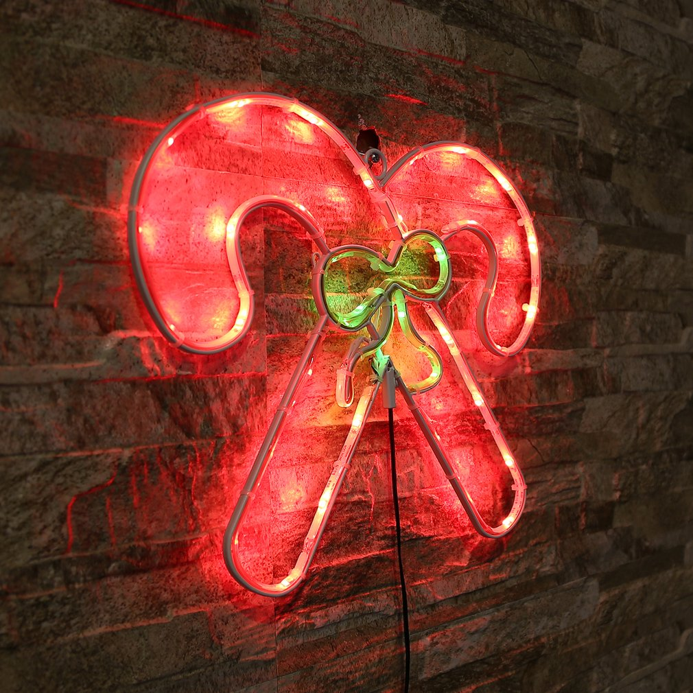 Neon Sign Light Crutch Shaped Wall Light Coffee Bar Mural Crafts Home Decor