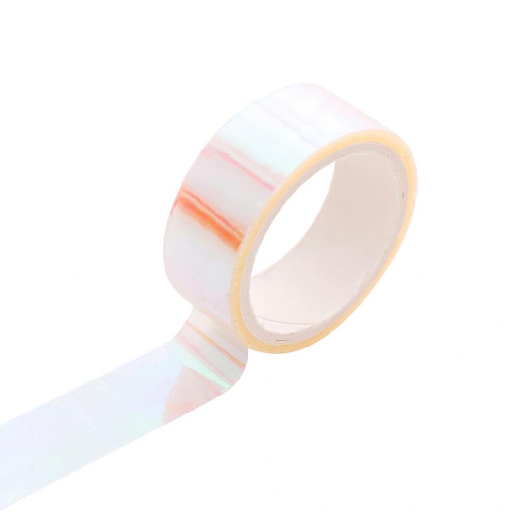 Colorful Waterproof Adhesive Laser Tape DIY Scrapbooking Album Notebook Decor