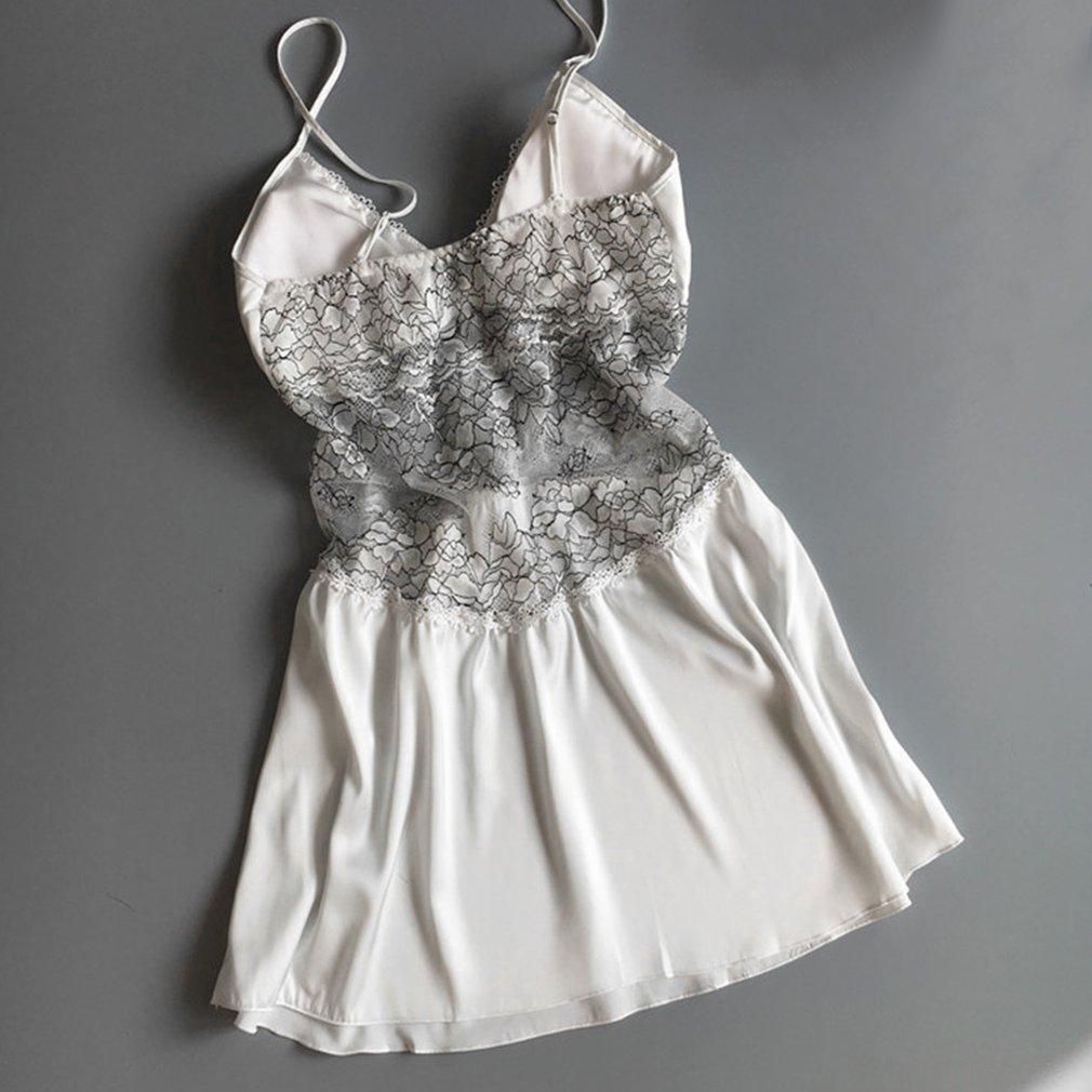 Padded Push Up Women Sexy Lingerie Silk Robe Dress Babydoll Nightdress