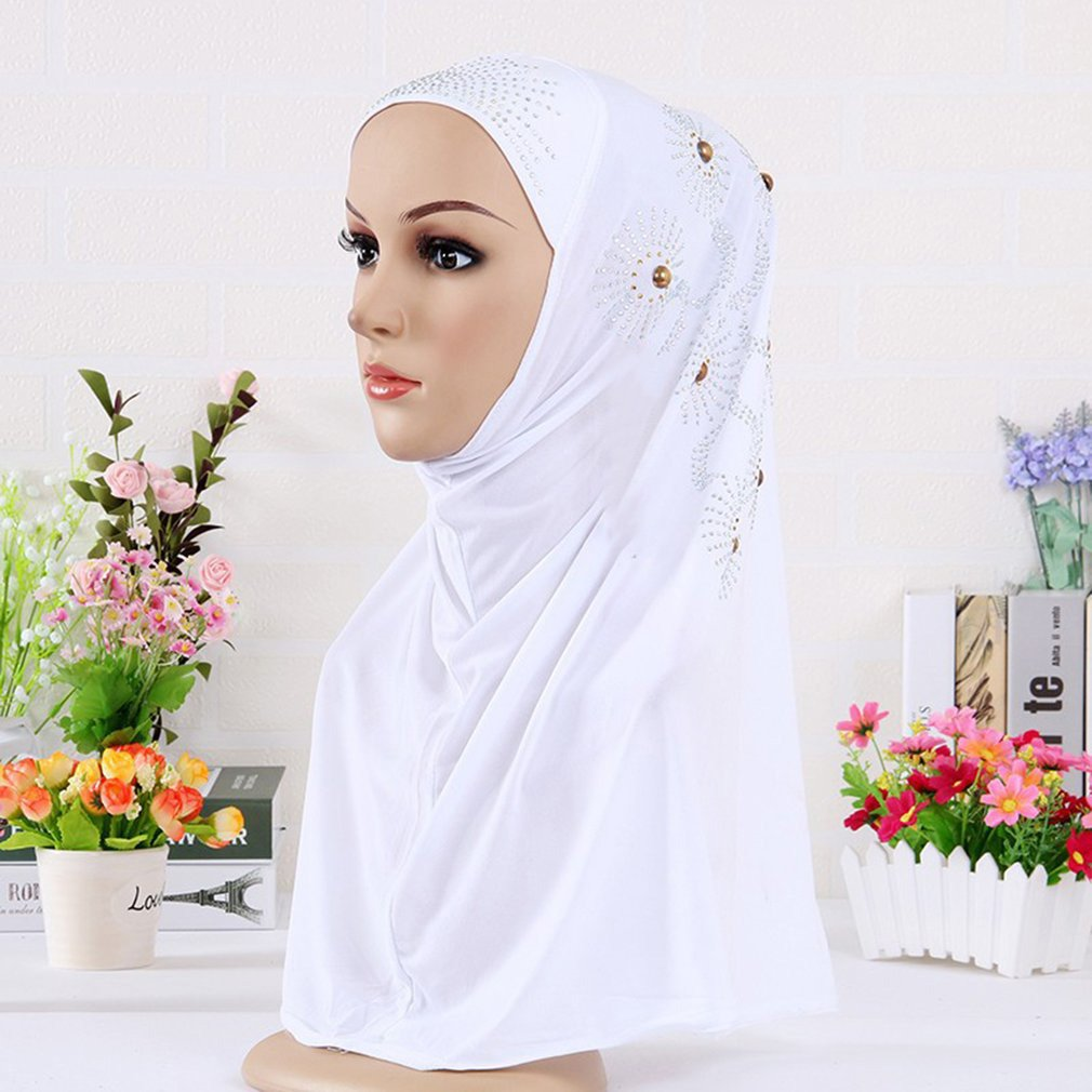 Comfortable Full Cotton Muslim Women Inner Headscarf Cap Islamic Full Cover Hat Underscarf Headwear Shawl for Female