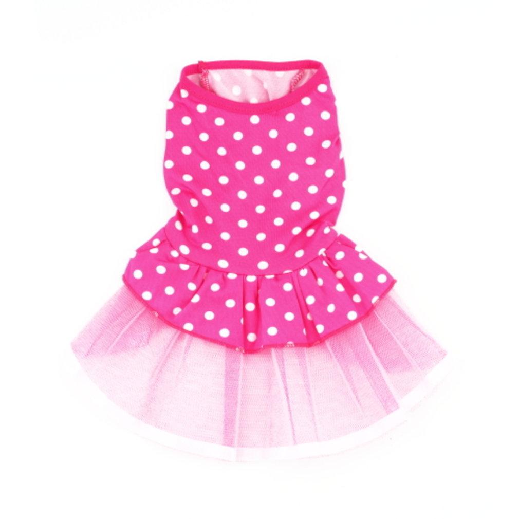 Dog Polka Dot Tutu Dress Flower Lace Skirt Cute Pet Cat Princess Clothes Dress