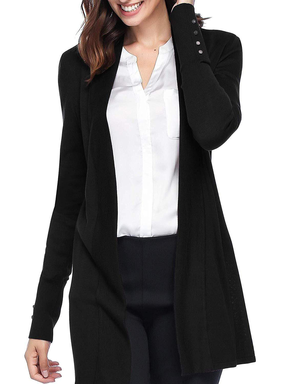 Women Lightweight Cover-up Long Sleeve Cardigan Sweaters Outerwear