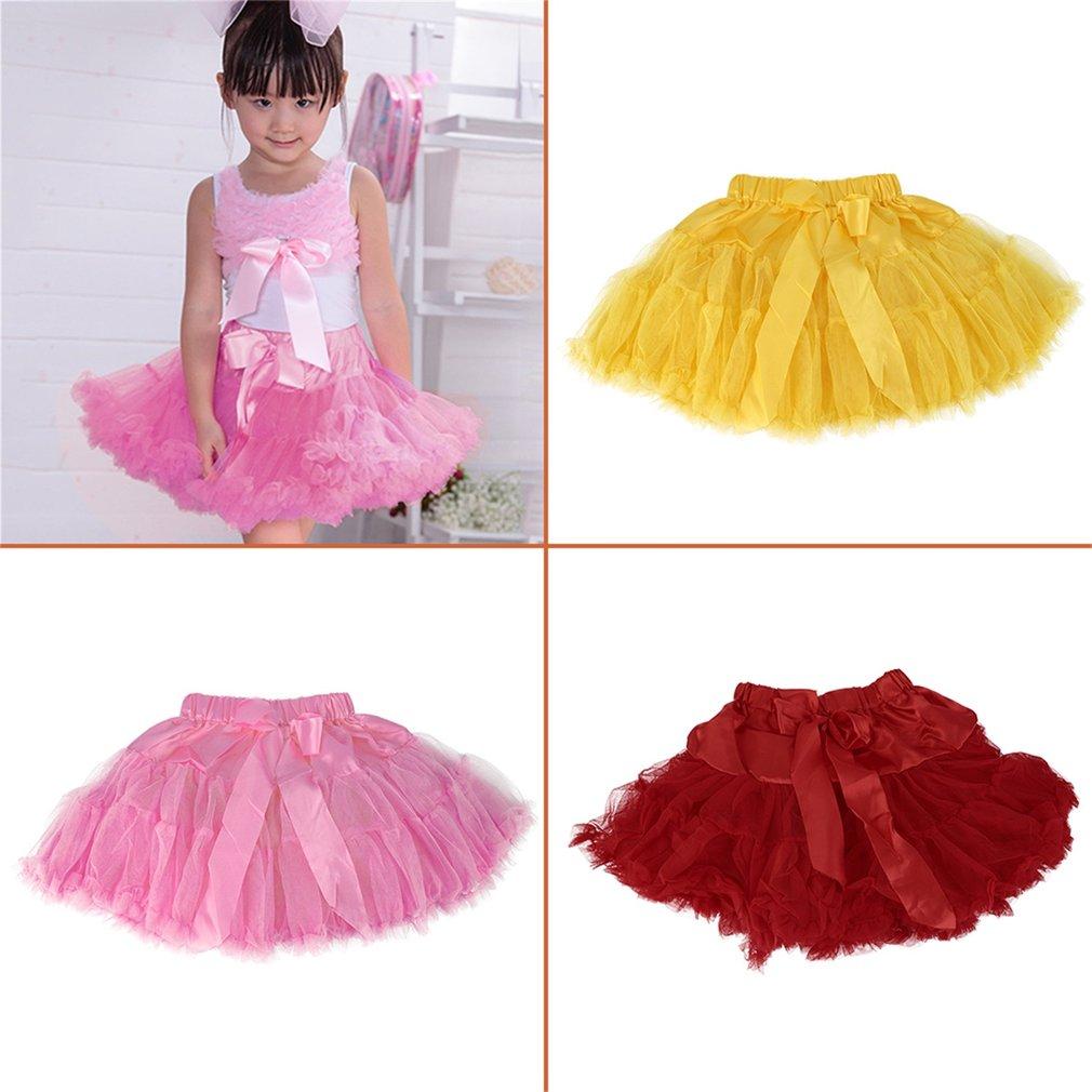 Baby Girls Chiffon Cute Princess Tutu Dancewear Pettiskirt Skirts 1-8 Years