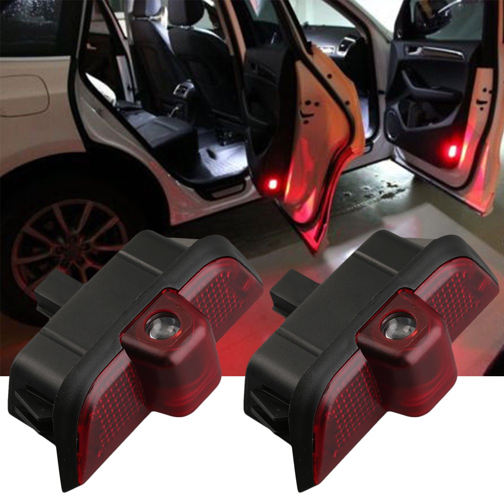 2 PCS LED Car Door Welcome Logo Ghost Shadow Light Lamp for Mercedes C-Class