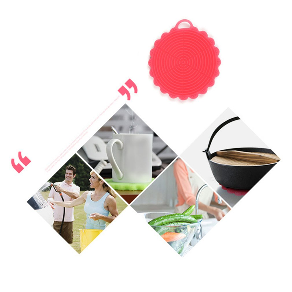 INNERNEED Food-Grade Silicone Dishwashing Brush Towel Scrubber for Kitchen