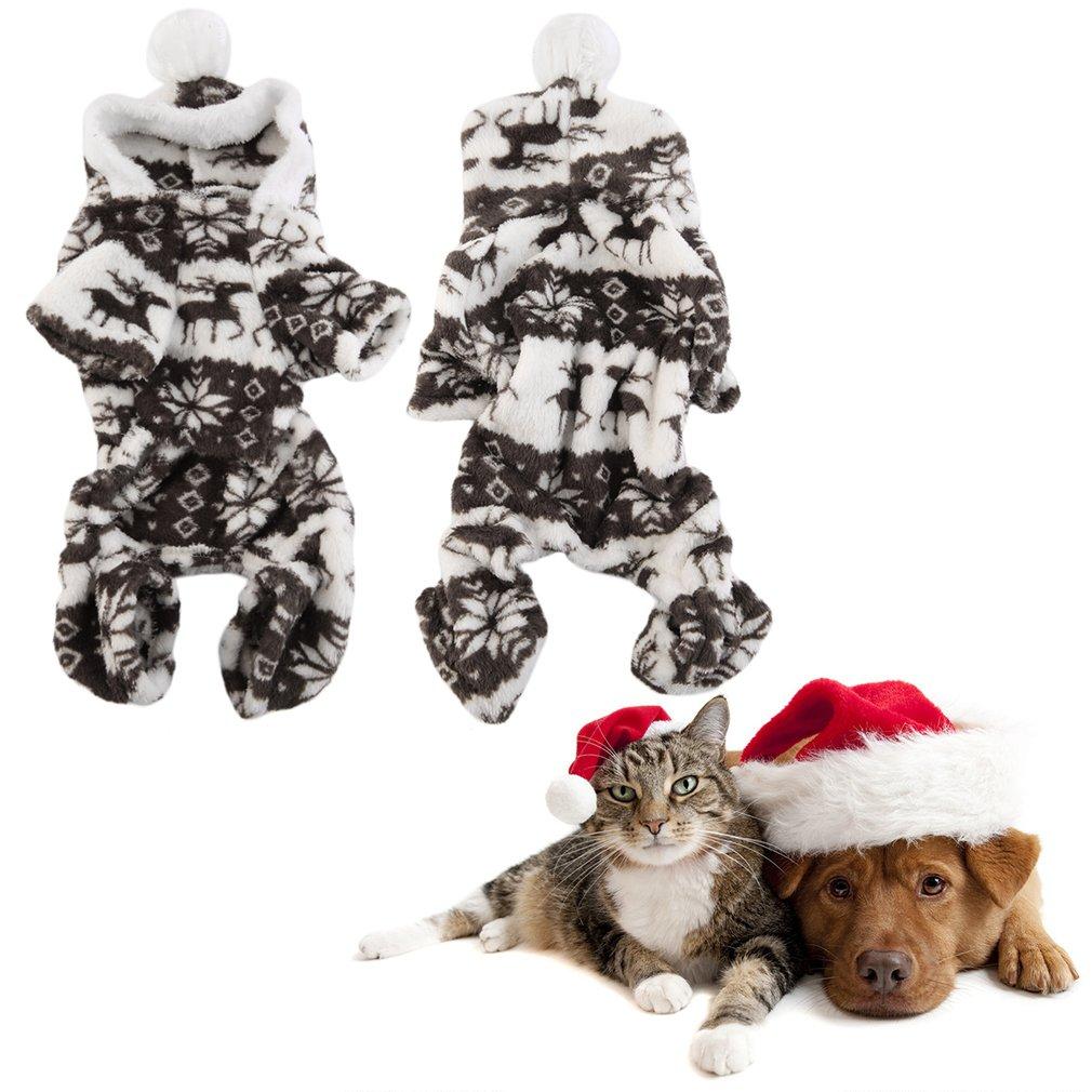 Dog Pet Winter Warm Coat Puppy Clothing Coffee Plush Cap Ball Apparel Cute