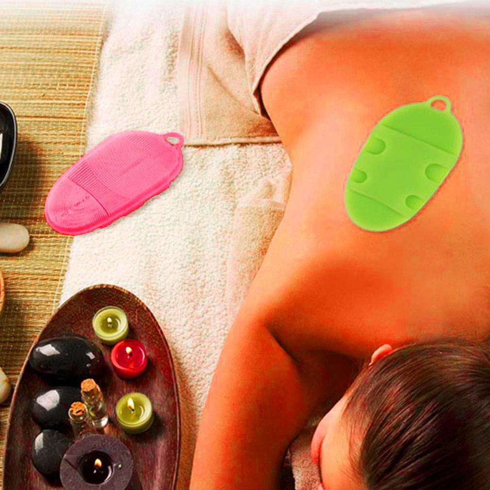INNERNEED Soft Silicone Body Bath Brush Glove Skin SPA Massage Scrubber