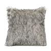 Fluffy pillowcase light gray