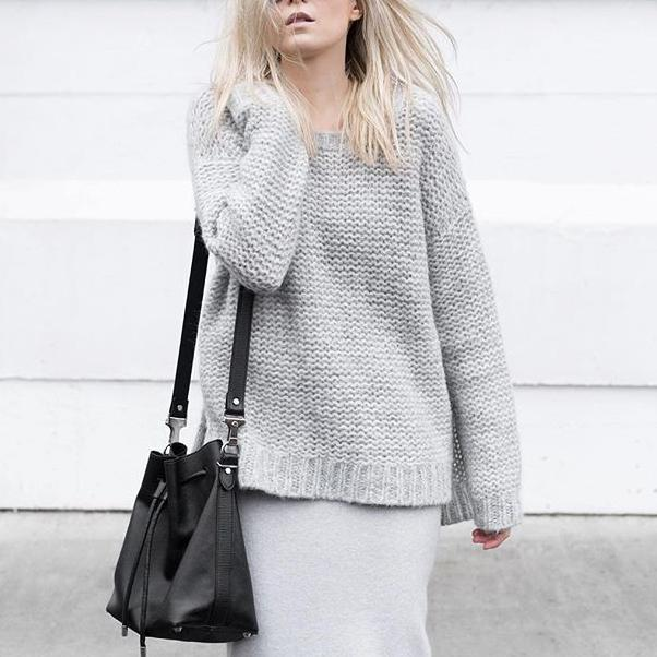 Autumn And Winter Korean Version Of The Loose Slit Sweater