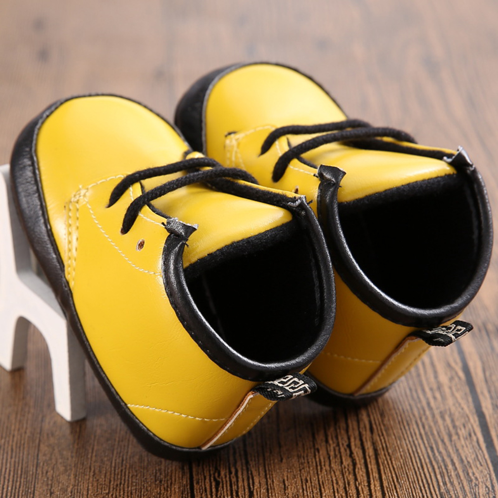 Spring Autumn Baby Kids Boys Girls Soft PU Leather Toddler Shoes Martin Boots